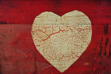 crackled heart