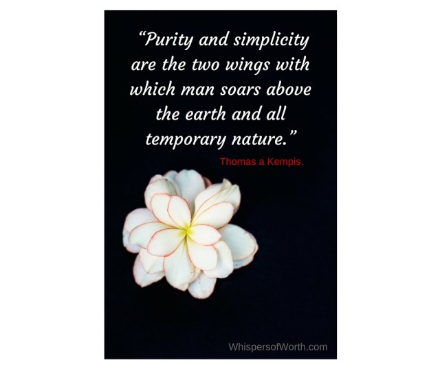 """""""Purity and simplicity are the two wings with which man soars above the earth and all temporary nature.""""(1)"""
