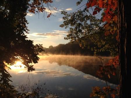 nature river mist