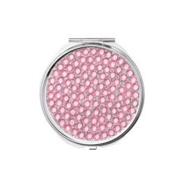pink sparkly compact mirror