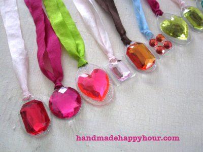 ribbon necklaces