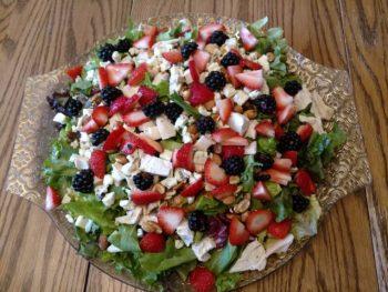 bhg chicken salad with spring greens