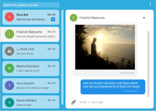 Screenshot Signal Chatting
