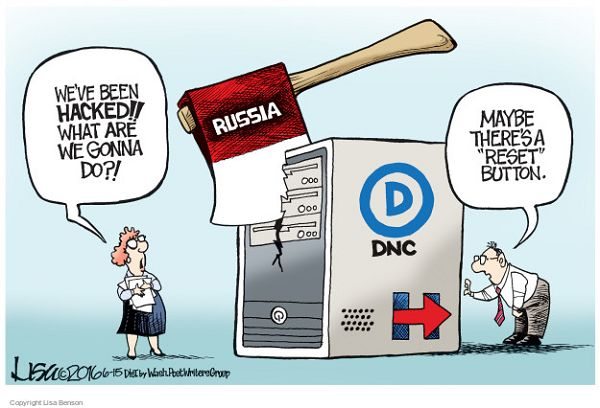 Image result for cartoons democrats blame russia hack