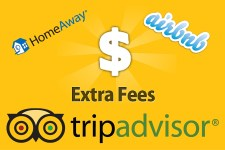 Guest Booking Fees on TripAdvisor HomeAway AirBnB