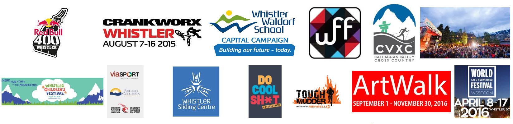 Whistler Events Logos