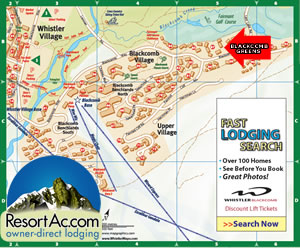 Whistler Blackcomb Greens Accommodation Map
