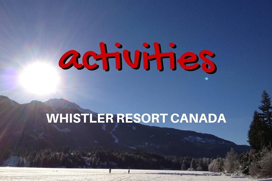 Whistler Activities