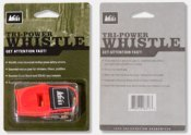 Whistles for Life can come in custom blister packaging for display in retail environments.