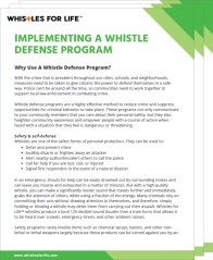 Whistle defense program guide