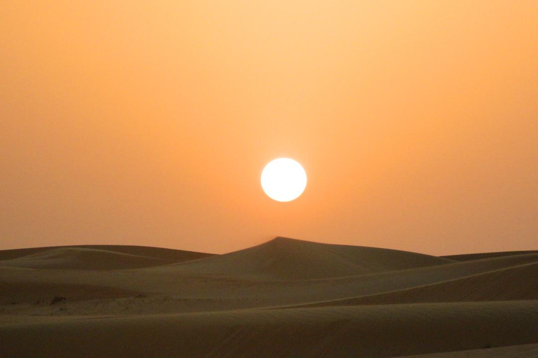 Dubai dunes sunset