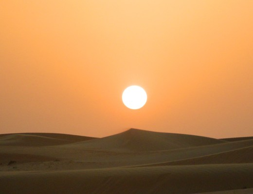 Dubai dunes sunset