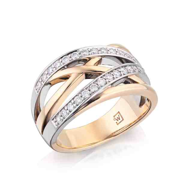 Diamond Overlapping Dress Ring