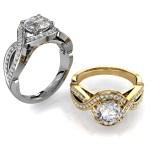 Round Brilliant Cut Diamond Halo Engagement Ring