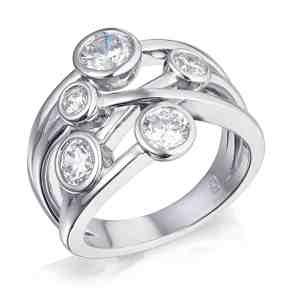 Bezel Set Multi Stone Diamond Ring