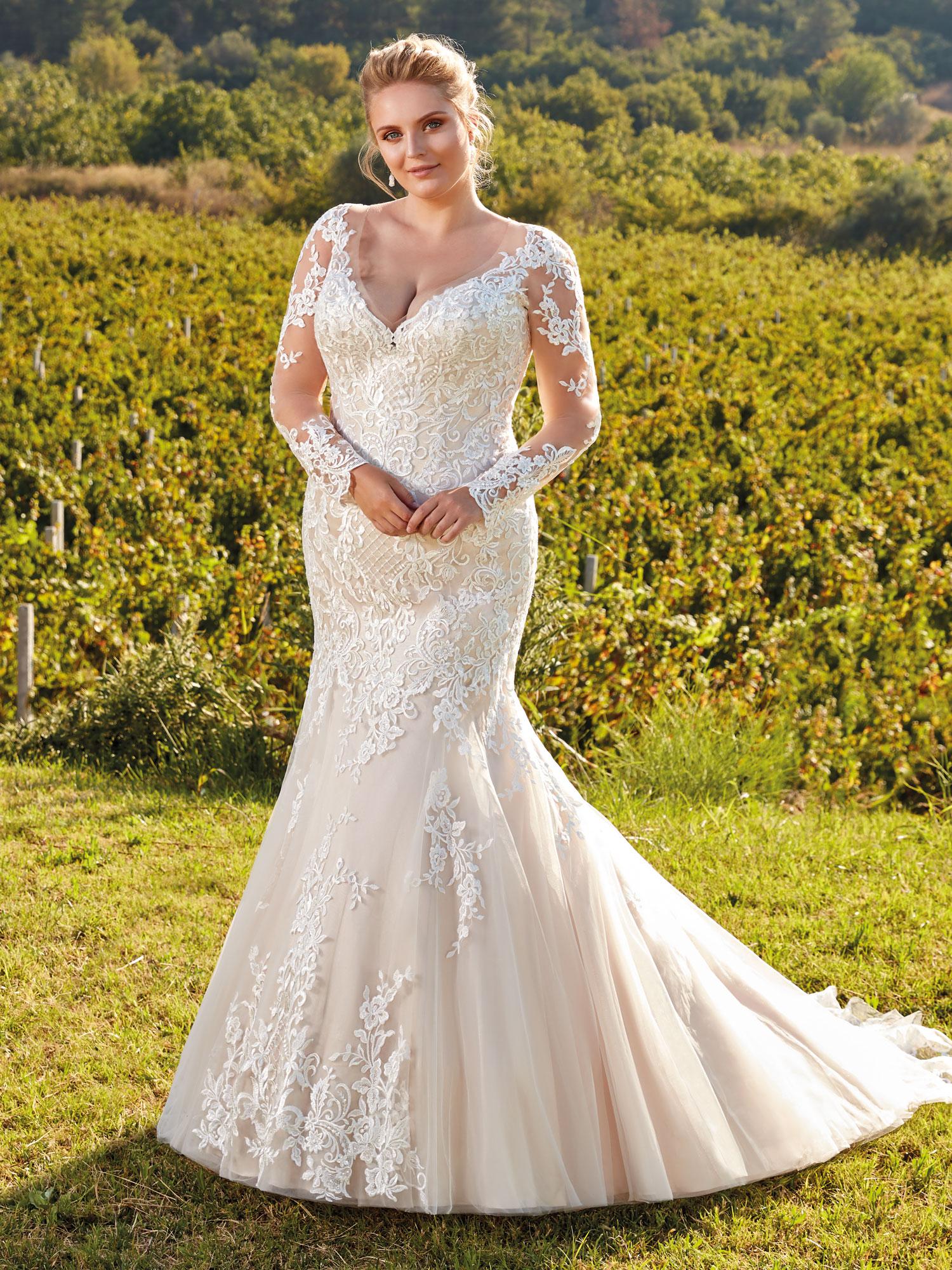 Robe de mariée sirène plus size UR103 - White