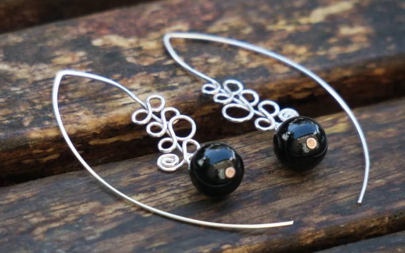 Onyx Earrings 1