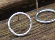 Silver Circle Stud Earrings 6