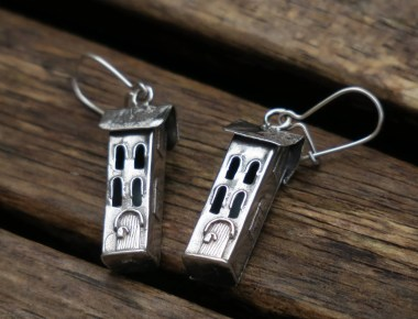 Silver House Earrings 1