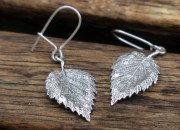 Silver Leaf Earrings 2