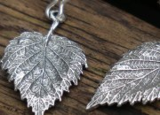Silver Leaf Earrings 5
