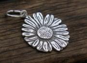 Silver Daisy Pendant 3