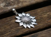 Silver Sunflower Pendant 5