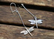 Sterling Silver Dragonfly Earrings 1