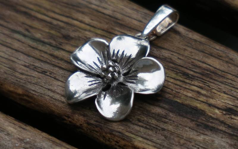 Sterling Silver Flower Pendant 1