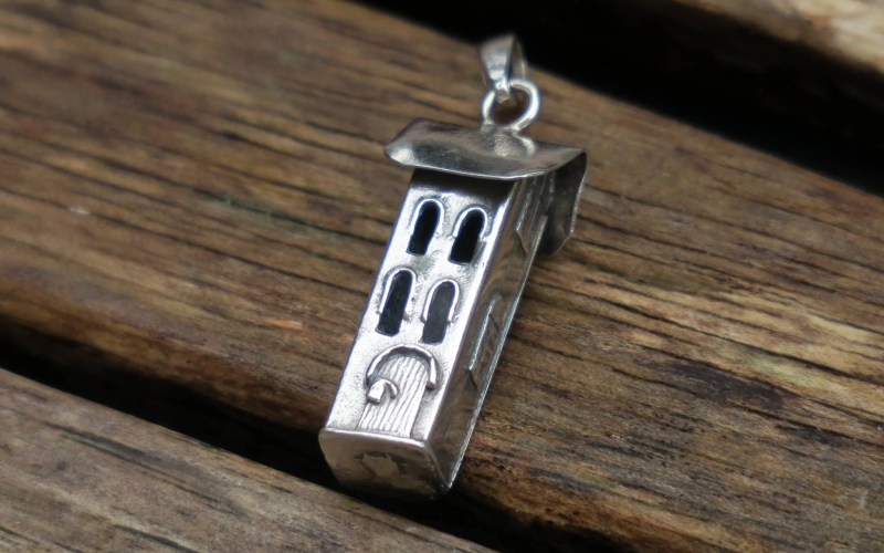 Sterling Silver House Pendant 1