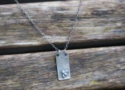 Raw Silver Bee Necklace 3