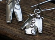 Silver Clothes Earrings 4