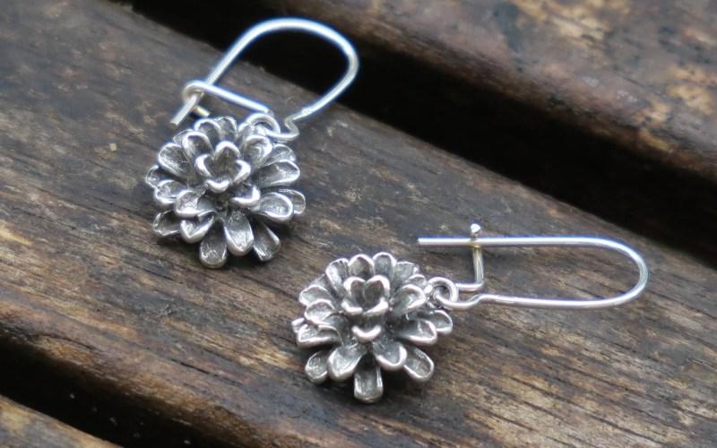 Silver Flower Earrings 1