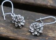 Silver Flower Earrings 3