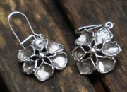 Silver Flower Earrings 3