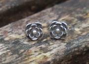 Silver Flower Stud Earrings 2