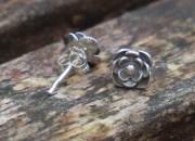 Silver Flower Stud Earrings 3