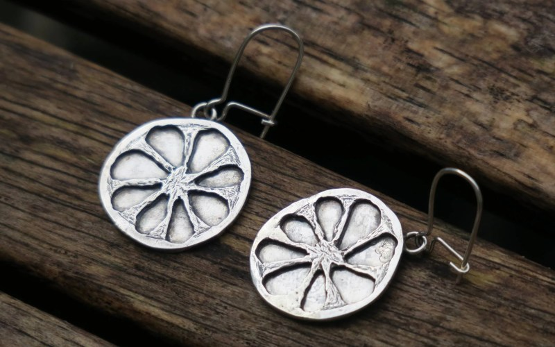 Silver Fruit Earrings 1