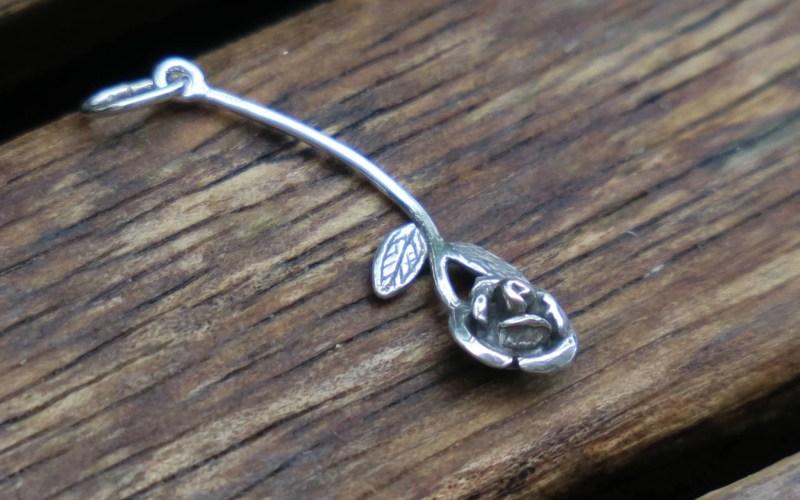 Silver Rose Pendant 1