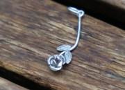 Silver Rose Pendant 4