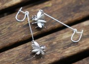 Sterling Silver Bee Earrings 2