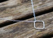 Sterling Silver Square Necklace 5