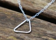 Sterling Silver Triangle Necklace 6