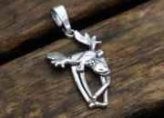 Sterling Silver Moose Pendant 1