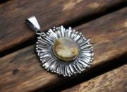 Amber Flower Pendant 2