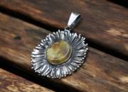 Amber Flower Pendant 4