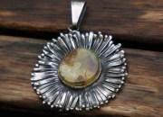 Amber Flower Pendant 6