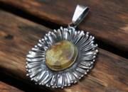 Amber Flower Pendant 7