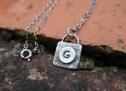 Silver Monogram Necklace 2