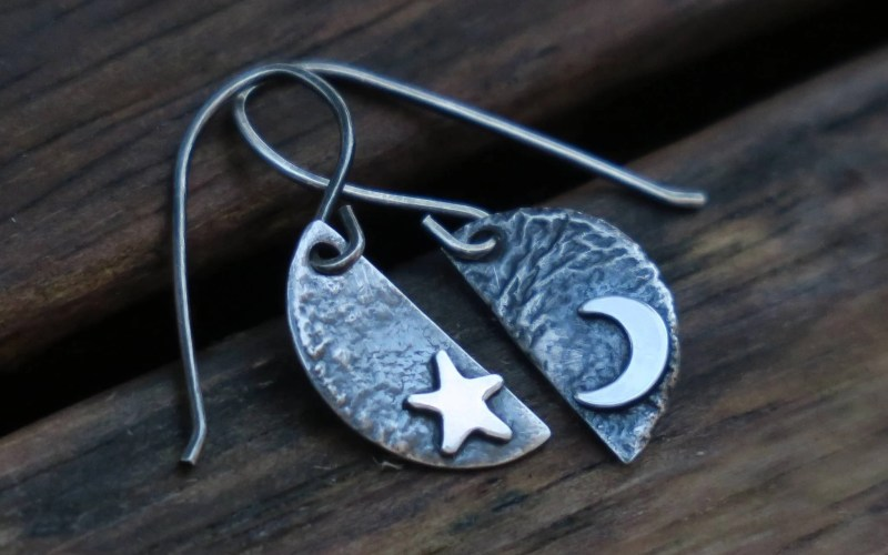 Sterling Silver Celestial Earrings 2